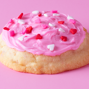Strawberry Valentine Sugar Cookie