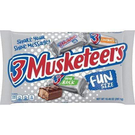 3 Musketeers Chocolate Candy, Halloween Fun Size, 10.48-Oz Bag