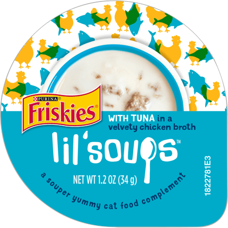 Friskies Lil' Soups, Adult Wet Cat Food Complement, 1.2-Oz. Cups