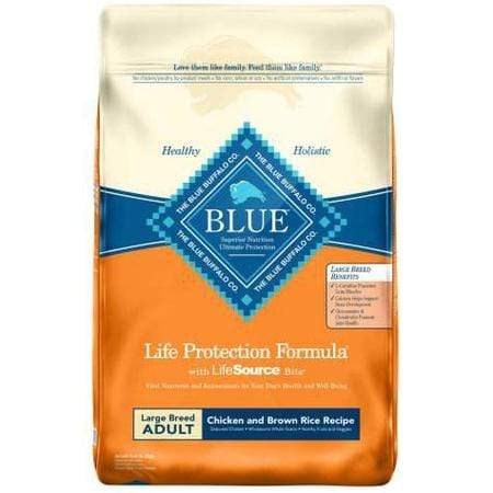 Blue Buffalo Life Protection Formula Natural Adult Large Breed Chicken and Brown Rice Dry Dog Food, 30 lbs.