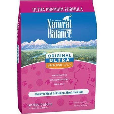 Natural Balance Original Ultra Whole Body Health Chicken Meal & Salmon Meal Formula Dry Cat Food, 15 lbs.