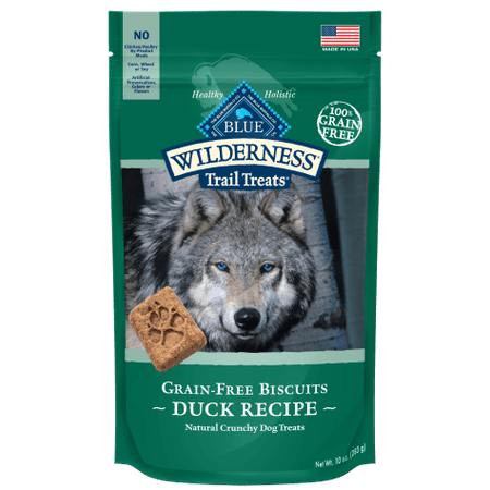 Blue Buffalo Blue Wilderness Trail Treats Duck Biscuits Dog Treats, 10 oz.
