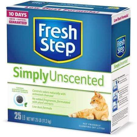 Fresh Step Simply Unscented Clumping Cat Litter, 25 lbs.
