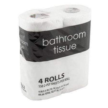 2-Ply Toilet Paper Roll, 4 Cnt