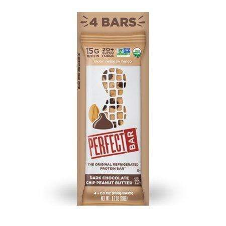 4 COUNT Perfect Bar, Dark Chocolate Peanut Butter W/ Sea Salt, 15G Protein, 2.3-Oz,