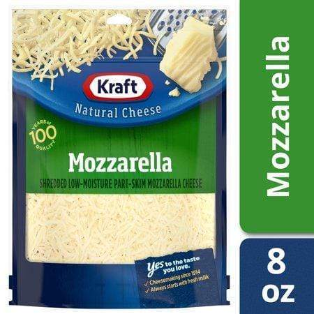 Kraft Mozzarella Shredded Cheese, 8 oz Bag
