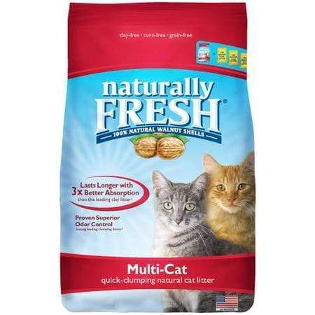 Naturally Fresh Unscented Quick-Clumping Formula Multi-Cat Litter, 26 lbs.