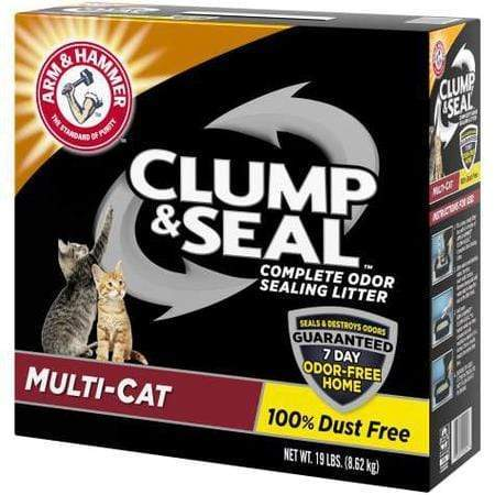Arm & Hammer Clump & Seal Multi-Cat Odor Sealing Cat Litter, 19 lbs.