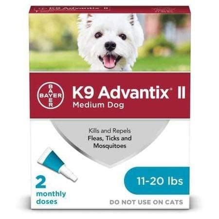 K9 Advantix II Topical Medium Dog Flea & Tick Treatment, Pack of 2