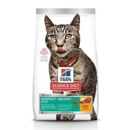 Hill's Science Diet Adult Perfect Weight Chicken Recipe Dry Cat Food, 15 lbs., Bag