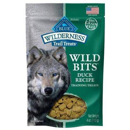 Blue Buffalo Blue Wilderness Trail Treats Duck Wild Bits Dog Treats, 4 oz.