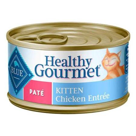 Blue Buffalo Blue Healthy Gourmet Kitten Chicken Entree Wet Cat Food, 3 oz., Case of 24