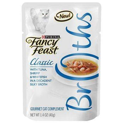 Fancy Feast Broth Wet Cat Food Complement, Broths With Tuna, Shrimp & Whitefish, 1.4-Oz. Pouch