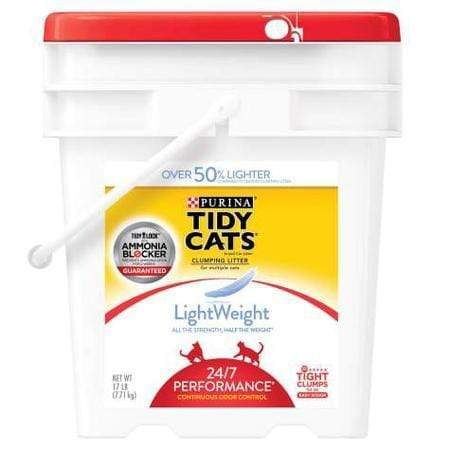 Purina Tidy Cats LightWeight 24/7 Performance Dust Free Clumping Multi Cat Litter, 17 lbs.