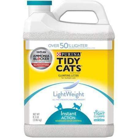 Purina Tidy Cats LightWeight Instant Action Dust Free Clumping Multi Cat Litter, 8.5 lbs.