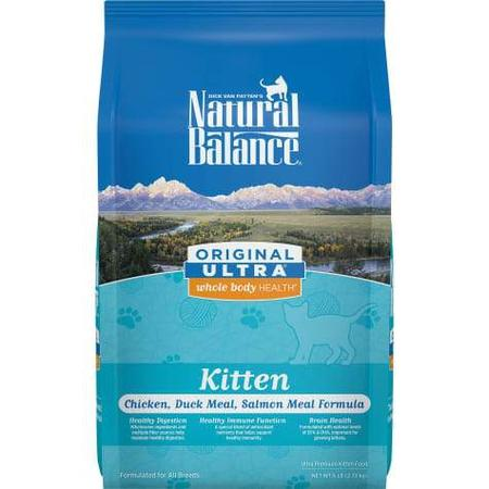 Natural Balance Original Ultra Whole Body Health Chicken, Duck Meal & Salmon Meal Kitten Food, 6 lbs.
