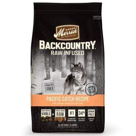 Merrick Backcountry Grain Free Raw Infused Pacific Catch Dry Dog Food, 22 lbs.