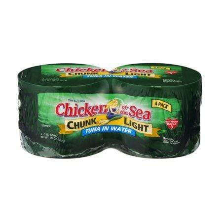 (4 Cans) Chicken Of The Sea Chunk Light Tuna In Water, 5-Oz