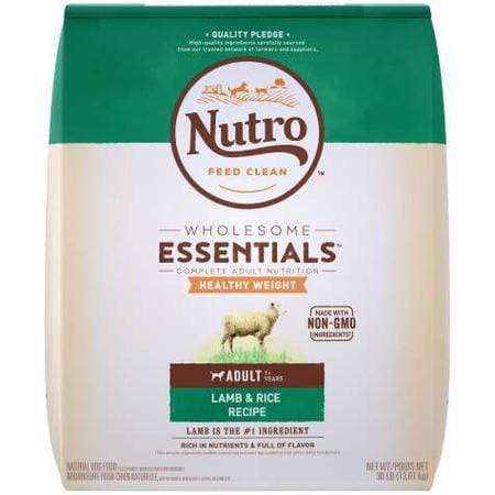 Nutro Wholesome Essentials Healthy Weight Natural Weight Control Lamb & Rice Recipe Adult Dry Dog Food, 30 lbs.