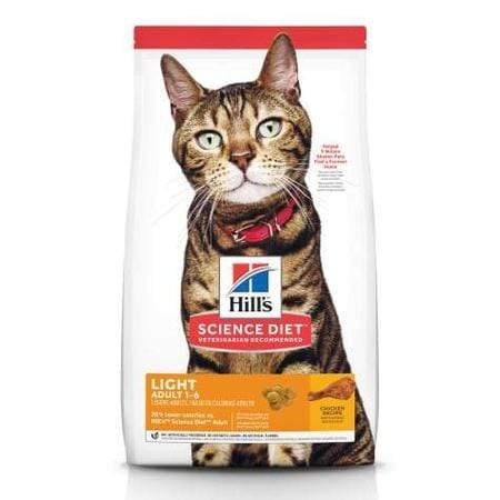 Hill's Science Diet Adult Light Chicken Recipe Dry Cat Food, 16 lbs., Bag