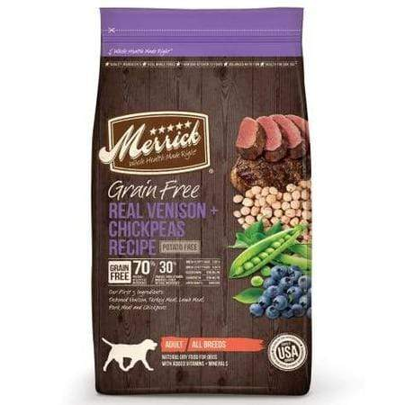 Merrick Grain Free Real Venison + Chickpeas Dry Dog Food, 4 lbs.