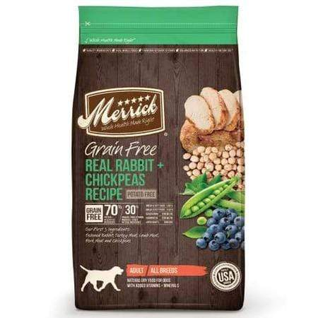 Merrick Grain Free Real Rabbit + Chickpeas Dry Dog Food, 4 lbs.
