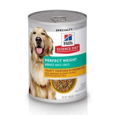 Hill's Science Diet Adult Perfect Weight Hearty Vegetable & Chicken Stew Canned Dog Food, 12.5 oz., Case of 12