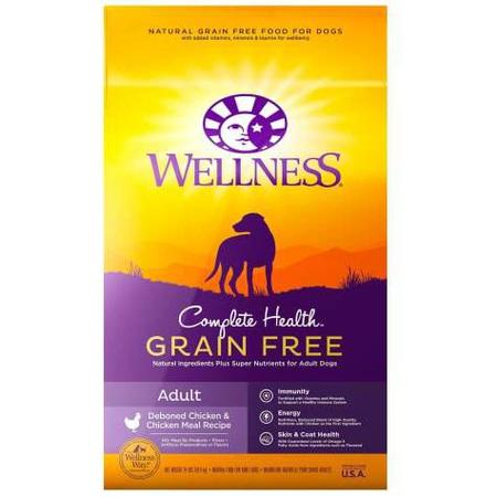 Wellness Complete Health Natural Grain Free Adult Deboned Chicken & Chicken Meal Recipe Dry Dog Food, 24 lbs.