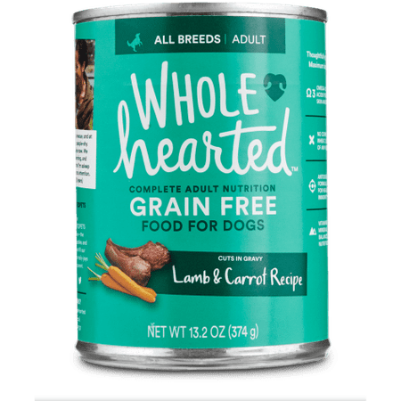 WholeHearted Grain Free Adult Lamb and Carrot Recipe Wet Dog Food, 13.2 oz., Case of 12