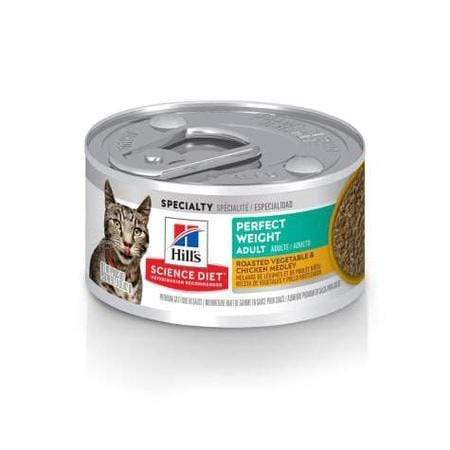 Hill's Science Diet Perfect Weight Roasted Vegetable and Chicken Medley Canned Cat Food, 2.9 oz., Case of 24