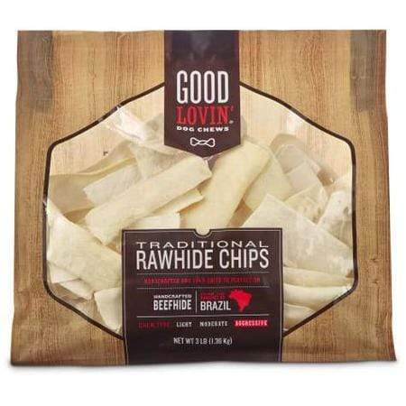 Good Lovin' Traditional Rawhide Chip Dog Chews, 3 lbs.