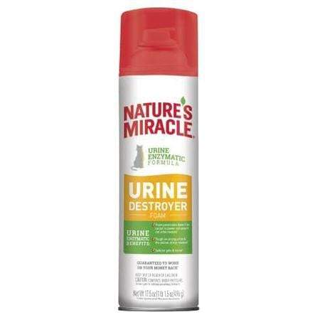 Nature's Miracle Urine Destroyer Foam Cat For Tough Urine Messes Aerosol, 17.5 oz.