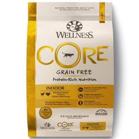 Wellness CORE Natural Grain Free Chicken & Turkey Dry Indoor Cat Food, 11-Pound Bag
