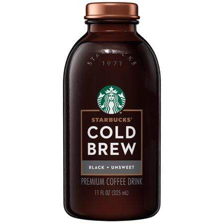 Starbucks Cold Brew Coffee, Black Unsweetened, 11-Oz Glass Bottle