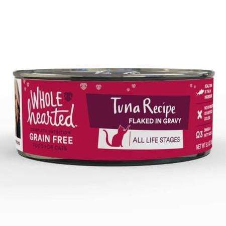 WholeHearted Grain Free Tuna Recipe Flaked in Gravy All Life Stages Wet Cat Food, 5.5 oz., Case of 12