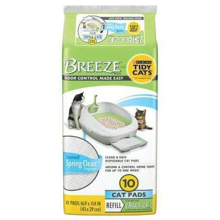 Purina Tidy Cats Breeze Spring Clean Cat Pads Refill Pack, 18.24 oz., Count of 10