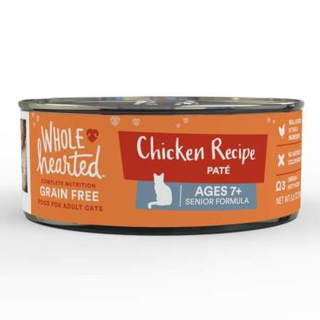WholeHearted Grain Free Chicken Recipe Pate Senior Wet Cat Food, 5.5 oz., Case of 24