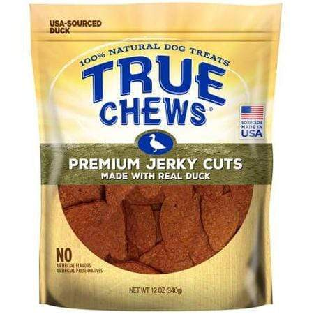True Chews Premium Jerky Cuts Made with Real Duck Natural Dog Treats, 12 oz.