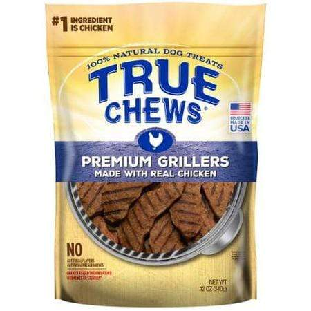 True Chews Premium Grillers Made With Real Chicken Natural Dog Treats, 12 oz.