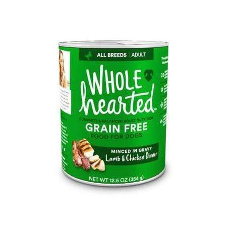 WholeHearted Grain-Free Adult Lamb and Chicken Dinner Wet Dog Food, 12.5 oz., Case of 8