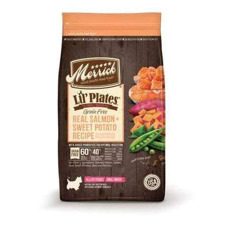 Merrick Lil' Plates Grain Free Real Salmon + Sweet Potato Small Breed Dry Dog Food, 20 lbs.