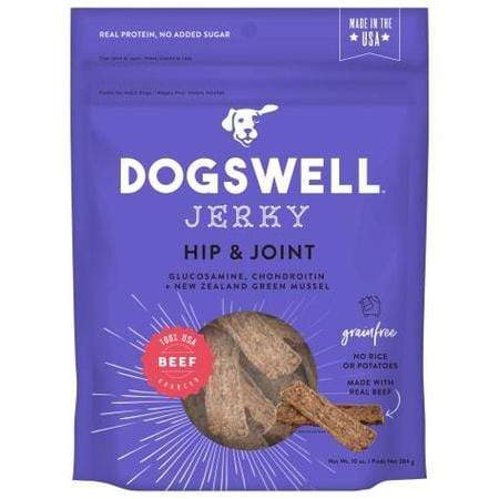 Dogswell Hip & Joint Jerky Grain-Free Beef for Dogs, 10 oz.