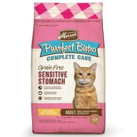 Merrick Purrfect Bistro Complete Care Sensitive Stomach Recipe Dry Cat Food, 12 lbs.