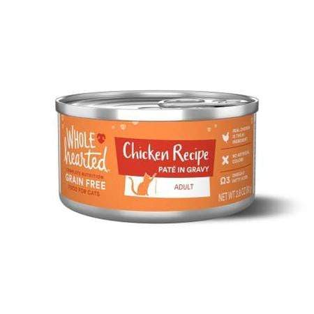 WholeHearted Grain Free Chicken Recipe Pate Adult Wet Cat Food, 2.8 oz.