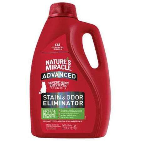Nature's Miracle Cat Advanced Stain & Odor Removers For Cat, 1 Gallon