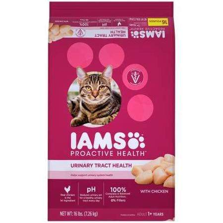Iams ProActive Health Adult Urinary Tract Health with Chicken Dry Cat Food, 16 lbs.