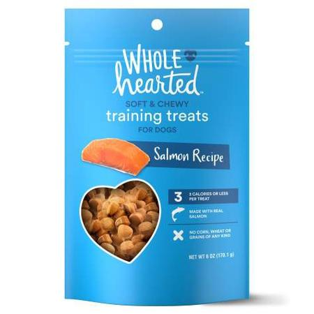 WholeHearted Grain Free Soft and Chewy Salmon Recipe Dog Training Treats, 6 oz