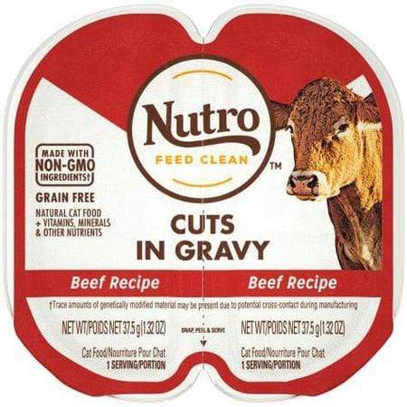 Nutro Perfect Portions Real Beef Cuts in Gravy Wet Cat Food, 2.64 oz., Case of 24