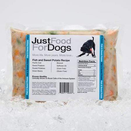 JustFoodForDogs Daily Diets Fish & Sweet Potato Frozen Dog Food, 72 oz.