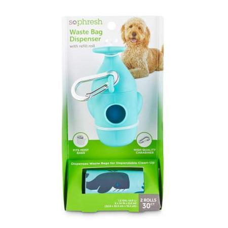 So Phresh Whale-Shaped Dog Waste Bag Dispenser with Refill Rolls
